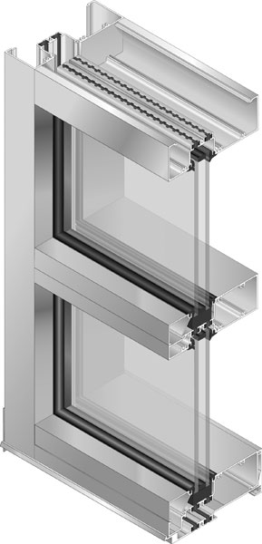 Trifab® 601 UT (Ultra Thermal) Framing - Isometic rendering showing cut section