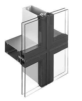 4 Sided Toggle Glazed Exterior Thermal Glass Curtain Wall System ...