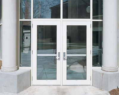 Single glass storefront door kawneer s standard commercial storefront