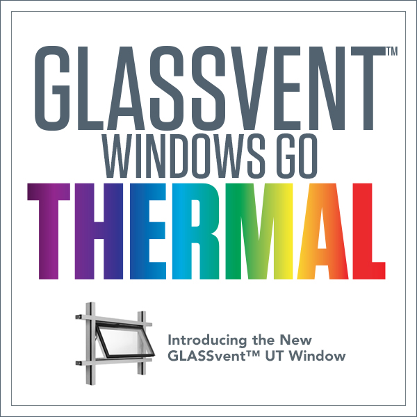 Kawneer Introduces GLASSvent UT Windows
