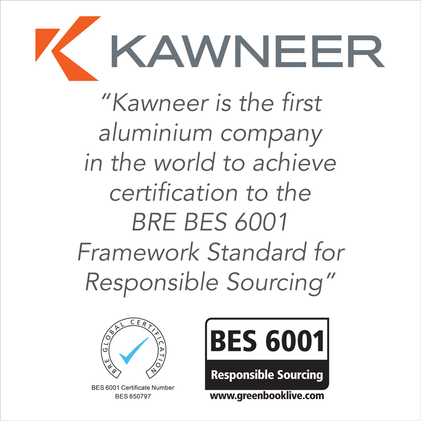Kawneer strikes a global first for responsible sou