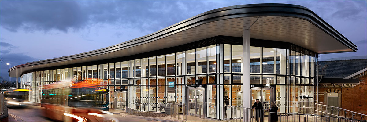 Project: Altrincham Interchange<br/>Products: AA®100, 10D