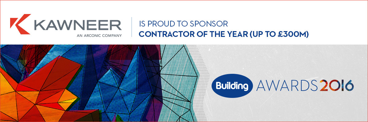 Kawneer to sponsor major category at the Building Awards 2016