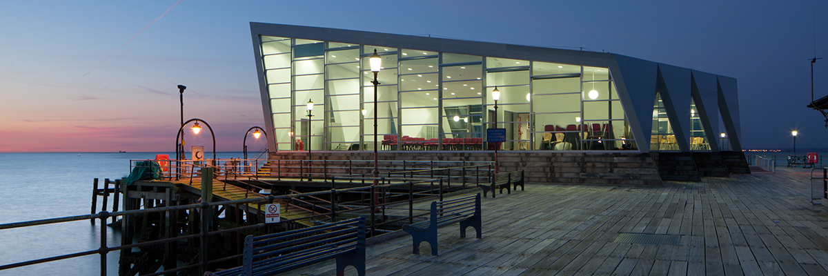 Project: Cultural Centre, Southend Pier<br/>Products: AA®100, AA®720, 190