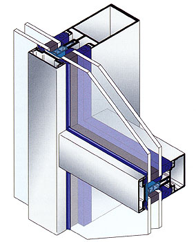 AA 100 Post-Bar Curtain Wall