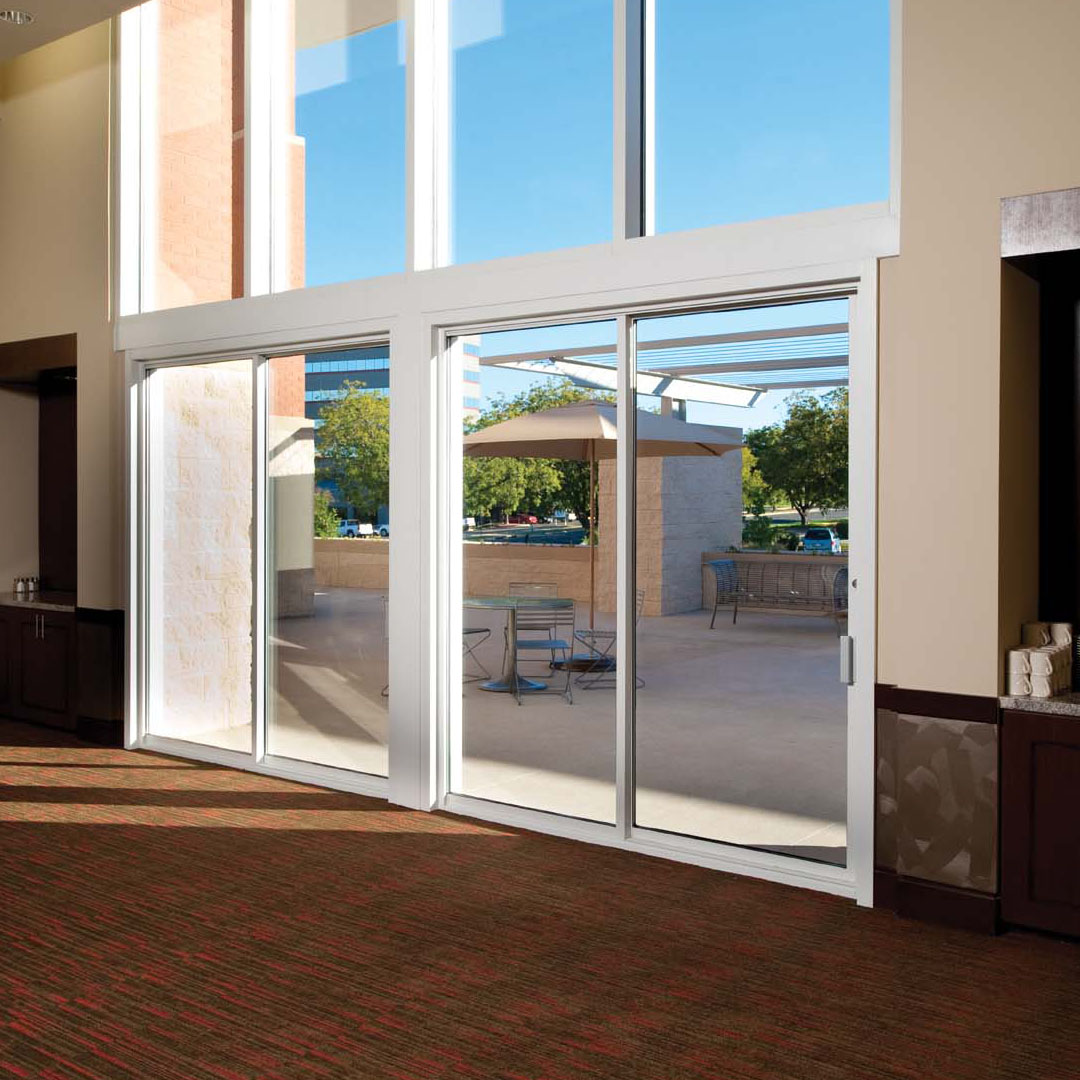 Commercial sliding door systems aluminum exterior 990 for Narrow sliding glass door