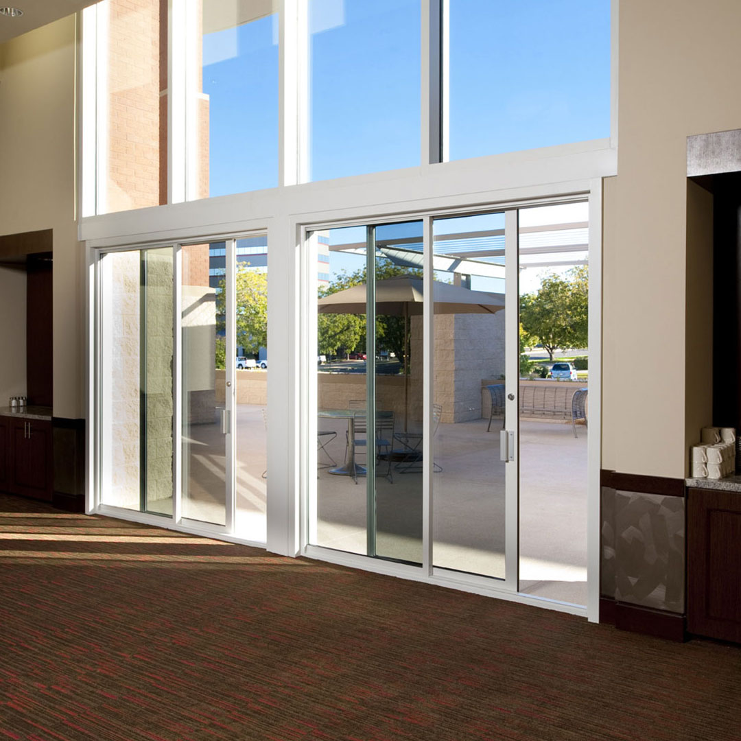 Commercial sliding door systems aluminum exterior 990 for Pocket sliding glass doors