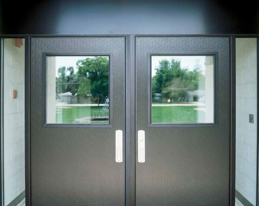 Commercial storefront aluminum swing door entrance systems - Commercial double swing doors ...