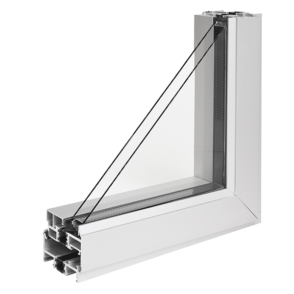 NX-300 Series Thermal Window _ Project-out (Corner Section Cut- Outside View)