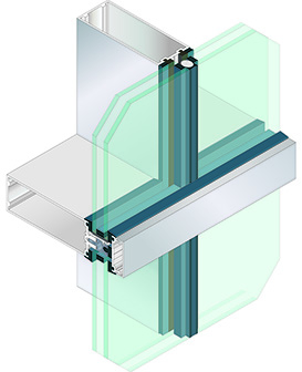 1620UT SSG Curtain Wall System (structural silicone glazed)