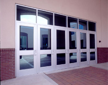 190/350/500 Standard Entrances & Commercial Storefront Aluminum Swing Door Entrance Systems