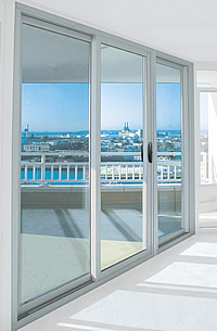 Commercial Thermal Aluminum Exterior Sliding Glass Entry
