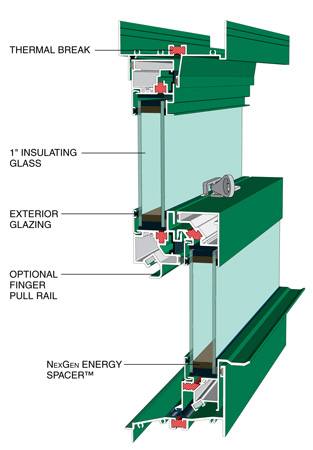 Exterior Glazing Thermal Double Hung Architectural Window