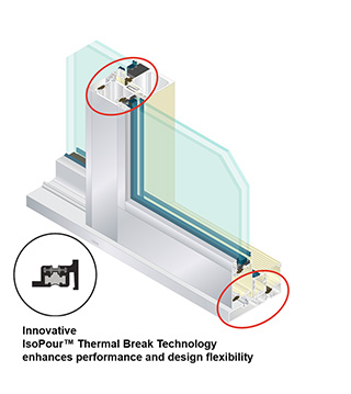 AA™3200M Thermal Sliding Door/IsoPour™ Technology