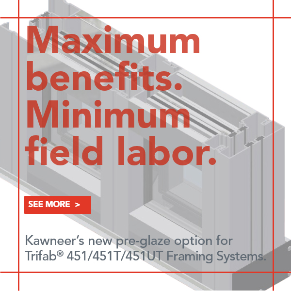 Trifab Framing System has Pre-Glaze Option