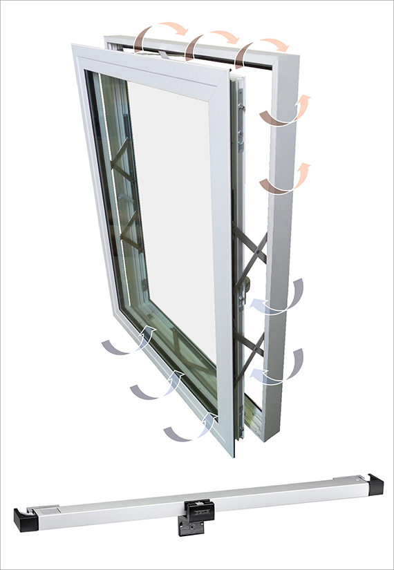 The Kawneer AA®720 + Slimchain window