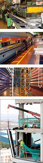 Extrusion-Thermal Break-Paint Racking-Installation